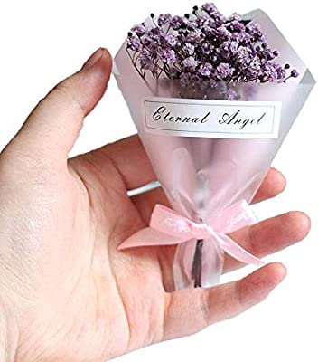 Amazon Com Cratone Natural Dry Flowers Mini Dried Flowers Gypsophila Small Bouquet Gift Box Christmas Day Event Gifts For Wedding Floral Arrangements Home Decorations Home Kitchen