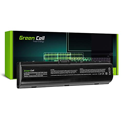 Green Cell® Standard Serie HSTNN-DB42 / HSTNN-LB42 Batería para HP Pavilion DV2000 DV6000 DV6500 DV6700 DV6800 DV6900 Ordenador (6 Celdas 4400mAh 10.8V Negro)