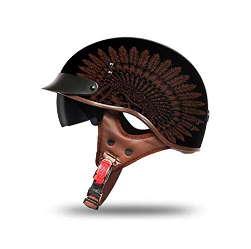 GAOZHE etro Casco Moto Abierto,ECE Homologado,Profesional Half Moto Cascos Helmet para Mujer y Hombre,Adultos Confortable Casco Moto Jet para Street Bike Cruiser Chopper Moped Scooter