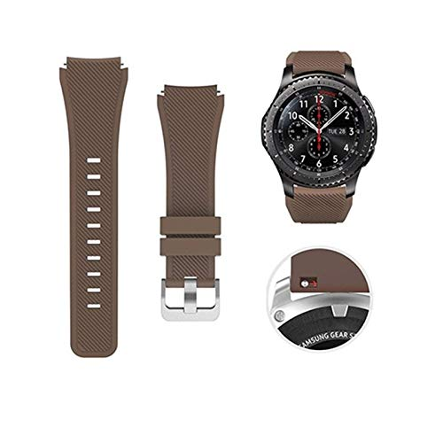 LYDBM Banda de Silicona de 22 mm para Samsung Galaxy Watch 46mm 42mm Correa Deportiva para Samsung Gear S3 Frontier/Clásico Activo 2 Huawei Watch 2 (Color : Color 1, Talla : For Galaxy 46mm)