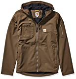 Carhartt Men's Hooded Rough Cut Jacket (Regular and Big & Tall Sizes), Tarmac, Large
