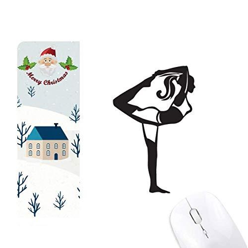 Cojín de ratón para yoga con diseño de Papá Noel