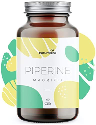 MAGRIFIT PIPERINE - Complemento para tu dieta hipocalórica que te ayuda a perder peso - Curcuma con jengibre y pimienta negra, Yerba Mate, Cafeina, Probiotico y Picolinato de Cromo
