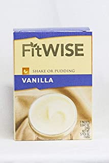 Healthwise - Vanilla Pudding/Shake Mix - 15 Grams of Protein, 80 Calories Zero Grams of Fat, Hunger Suppressant, Appetite Control for Weight Loss - 7 Packets 0.85 OZ NET WT 5.93 OZ