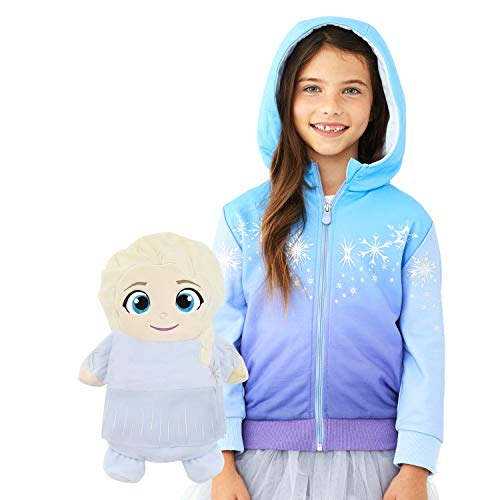 Cubcoats Elsa 2-in-1 Transforming Classic Zip-Up Hoodie & Soft Plushie
