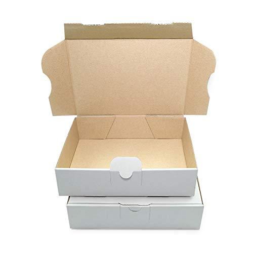 100 Maxibriefkartons Versandkartons Faltschachtel Faltkarton Maxibrief 180 x 130 x 45 mm, Weiss, MB-2