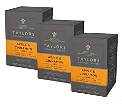 3 x 20 Individually wrapped and tagged tea bags (60 Tea Bags in Total) A Sweet & Spiced Caffeine Free Infusion Made with real apple pieces and Taylor's sweet cinnamon spice blend A comforting blend that's perfect any time of day Enjoy just as it is