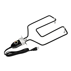 Stanbroil Replacement Part Electric Smoker and Grill Heating Element with Adjustable Thermostat Cord Controller