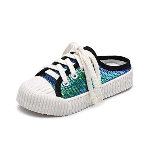 Qianliuk Kinder Keks Freizeitschuhe TRP Soft Bottom Lace Up Kinder Freizeitschuh Jungen Mädchen Half Drag Schuhe Komfortable Verschleißfest