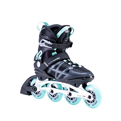 K2 Skates Damen ALEXIS 84 PRO Inline Skates, Black-Light Blue, 37 EU (4.5 UK)