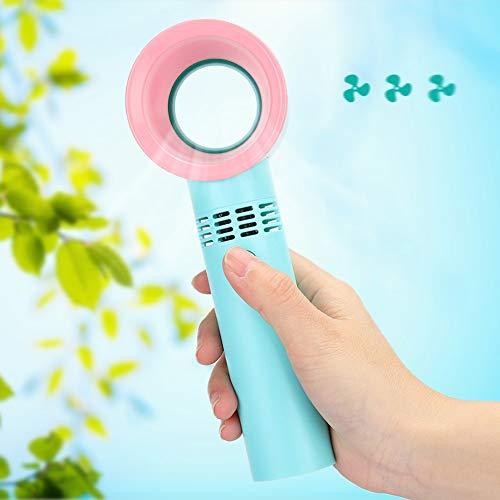 YunDduoBao Ventilador de Refrigeración de Aire Acondicionado de Mano Eléctrico Mini Ventilador Portátil Recargable de Mano sin Mangas USB para Hogar Aire Libre
