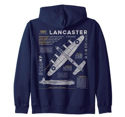 Lancaster Bomber | Bombardero Avro Avión WW2 RAF Dambusters Sudadera con Capucha
