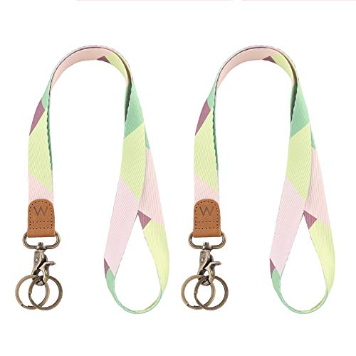 Lanyard for Keys, Nice Pattern Neck Strap Key Chain Holder Lanyards for ID Badges (Green)