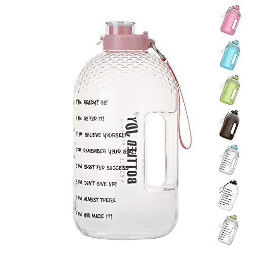 BOTTLED JOY 1 Gallon Water Bottle, BPA Free Large Water Bottle Hydration with Motivational Time Marker Reminder Leak-Proof Drinking Big...