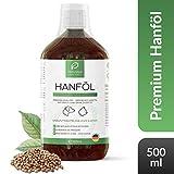PRIVANA Premium Hanföl für Hunde & Katzen - 500ml - 100% rein, natürlich & kaltgepresst - Über 80% ungesättigte Fettsäuren - Made in Germany
