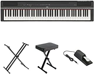 Yamaha P125 Digital Piano Bundle with X Stand, Bench and Sus