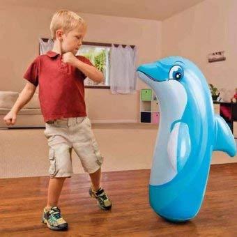 ML hinchables tentepie muñecos y Animales Hinchable tentetioso . muñeco Dinosaurio Hinchable para niños (Azul-Delfin)