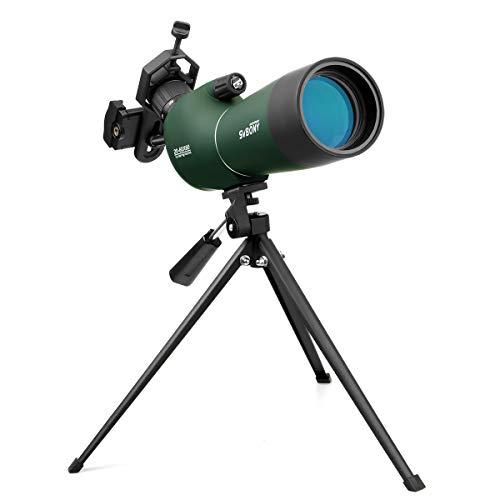 Svbony SV28 Telescopio Terrestre 20-60x60 de Zoom ImpermeableTelescopio Terrestre con Trípode y Adaptador Universal para Smartphone para Observación