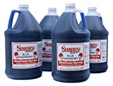 Snappy Blue Raspberry Sno Cone Syrup, 1 Gallon, 4 Pack
