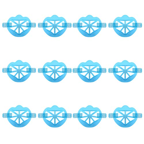MILISTEN 12Pcs Support de Couverture de Bouche Support de Visage 3D Protection de Rouge à Lèvres Support Interne pour Nez Bouche pour Augmenter L'espace Respiratoire