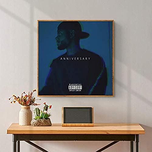 A N N I V E R S A R Y Album Cover - Bry_Son Ti_ller, R&B, Soul Music, A N N I V E R S A R Y Poster, Album Cover - 17x17 Inch Poster No Framed 3F9G (24'x36')