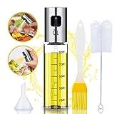 JIPRENS Pulverizador Aceite Cocina,Dispensador de Aceite de Oliva Pulverizador de aceite y vinagre botellas rellenables con embudo...