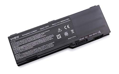 vhbw Li-ION Batterie 6600mAh (11.1V) pour Ordinateur Portable, Notebook Dell Vostro 1000 comme KD476.