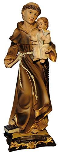 Kaltner Präsente Geschenkidee - Deko Figur Heiliger Antonius von Padua mit Jesus Kind Heiligenfigur 31,5 cm hoch