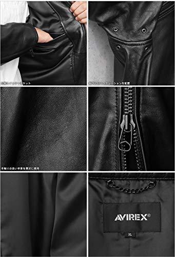 AVIREXアビレックス6101045SHEEPSKINスタンドシングルライダースジャケット【クーポン対象外】(M09BLACK)