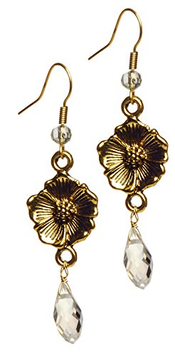 Gold Sahara Rose Earrings