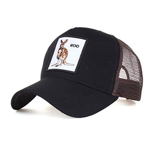 TWIFER Gorra de béisbol de algodón de Estilo Unisex Vintage para Deportes al Aire Libre Animal Bordado Vintage Marca Transpirable Impresión de Letras para Deportes Hombre Mujer Hip-Hop Ajustable (D)