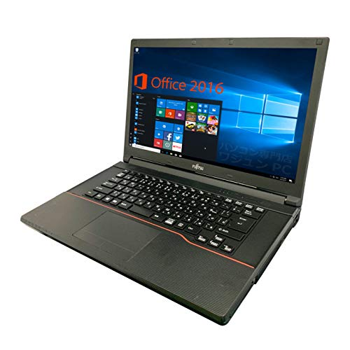 【Microsoft Office 2016搭載】【Win 10搭載】富士通 A553/新世代Celeron 1.8GHz/新品メモリー:4GB/HDD:320GB/DVDドライブ/大画面15.6インチ液晶/無線LAN搭載/中古ノートパソコン (HDD:320GB)