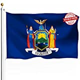 DFLIVE Double Sided New York State Flag 3x5ft Heavy Duty Polyester 3 Ply NY Flags Indoor and Outdoor Use
