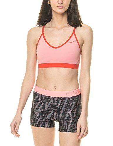Nike Damen Pro Indy Sport-BH, Bright Melon/Max Orange, XS