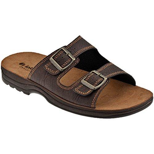 inblu TG-01 Pantofole Ciabatte Doppia Fascia con Fibbia