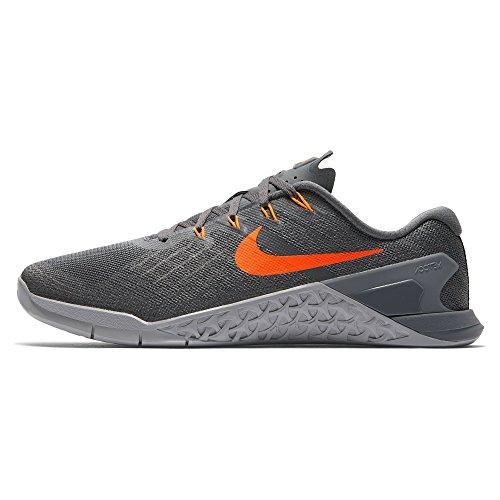 Nike Metcon 3 Dark Grey/Hyper Crimson/Wolf Grey Mens Cross Training Shoes