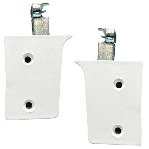Dekati 2 x kastdrager/kasthanger/kasthouder/wandhouder/ophanging voor meubels en kasten wit draagkracht 50 kg per houder