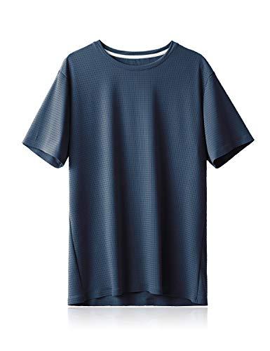 BALEAF Men's Cooling Workout Running Athletic Shirts Quick Dry Soft UPF 50+...