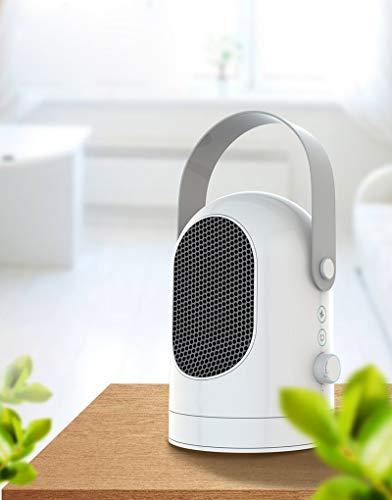 XASY hetelucht + koude ventilator, beweegbare ventilator, keramische snelheids-oscillator, 600 W kamerverwarming, 3 modi verwarmen de natuurlijke koeler, oververhitting en kantelbeveiliging voor