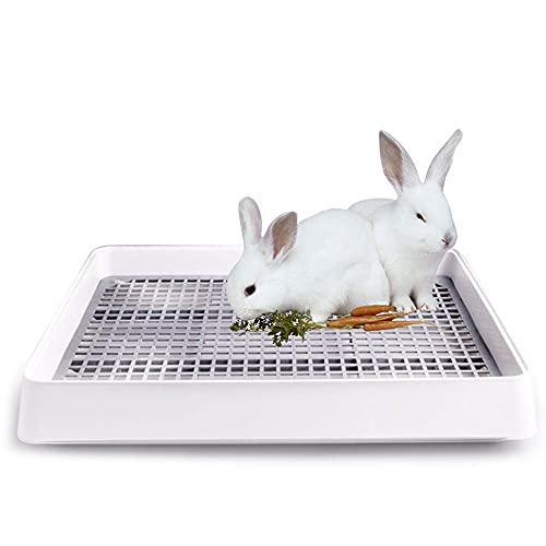 Oncpcare - Lettiera per conigli con griglia, lettiera per conigli, extra large
