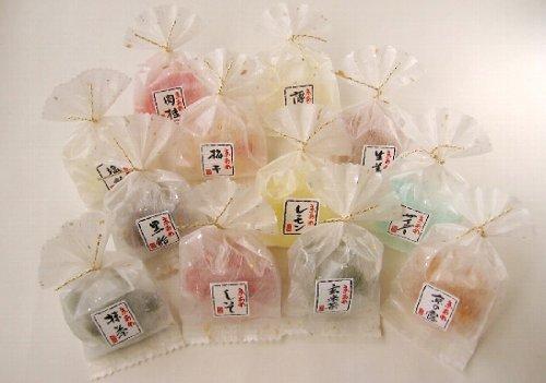 ホワイトデー お返し 彩り京飴セット 風呂敷包み ピンク色 1箱 12袋入り