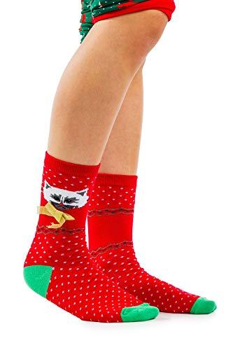 Women's Meowy X-mas Socks - Festive Christmas Socks