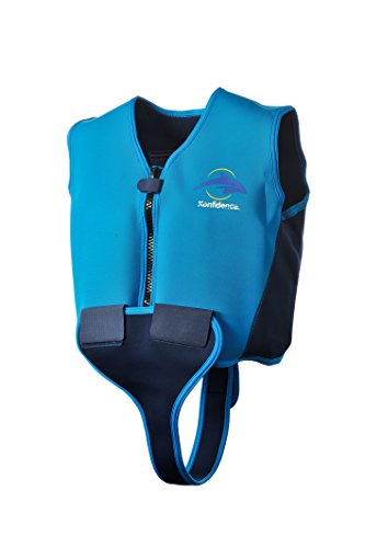 Konfidence Youth Swim Jacket - Blue/Navy (10-12 Years)