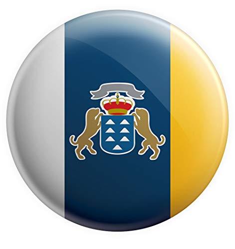 AK Giftshop Imán de la Bandera de Las Islas Canarias, Regalo de cumpleaños, Navidad, Regalo de calcetín, Amigo Invisible, coleccionista