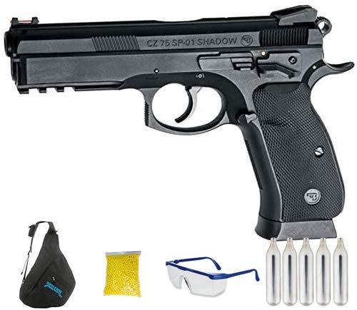 ASG CZ SP-01 Shadow - Pistola de Airsoft Calibre 6mm (Arma Aire Suave de Bolas de plástico o PVC). Sistema: CO2. <3,5J