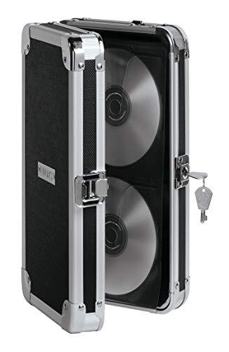 Vaultz Locking CD Wallet, 48 CD Capacity, 2.5 x 11.25 x 7 Inches, Black (VZ01137)