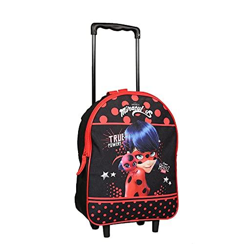 Mochila con ruedas de 31 cm Miraculous/Ladybug negro y rojo Bagtrotter