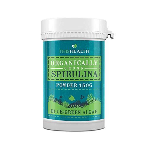 Biologisch geteelde Spirulina Poeder - Organische Spirulina Poeder met Blauwe Groene Algen - Organische Spirulina voor Mannen en Vrouwen om het welzijn te verhogen - 150g Chlorella Spirulina Poeder door ThisHealth