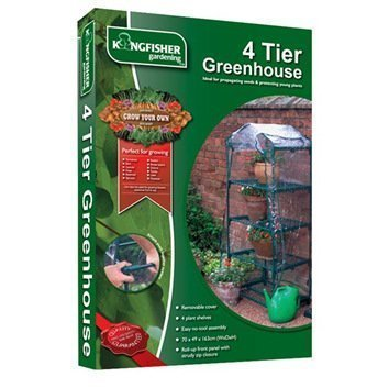 Kingfisher 4 Tier Greenhouse Green House by Kingfisher