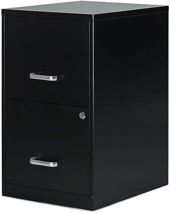 Staples 2806262 2 Drawer Vertical File Cabinet Locking Letter Black 18 Inch D 52149 Kitchen Dining Amazon Com